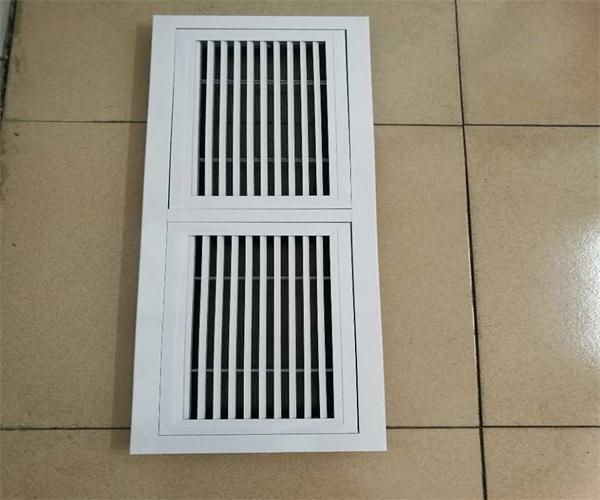 门铰式回风口分两个内框(铝合金材质)